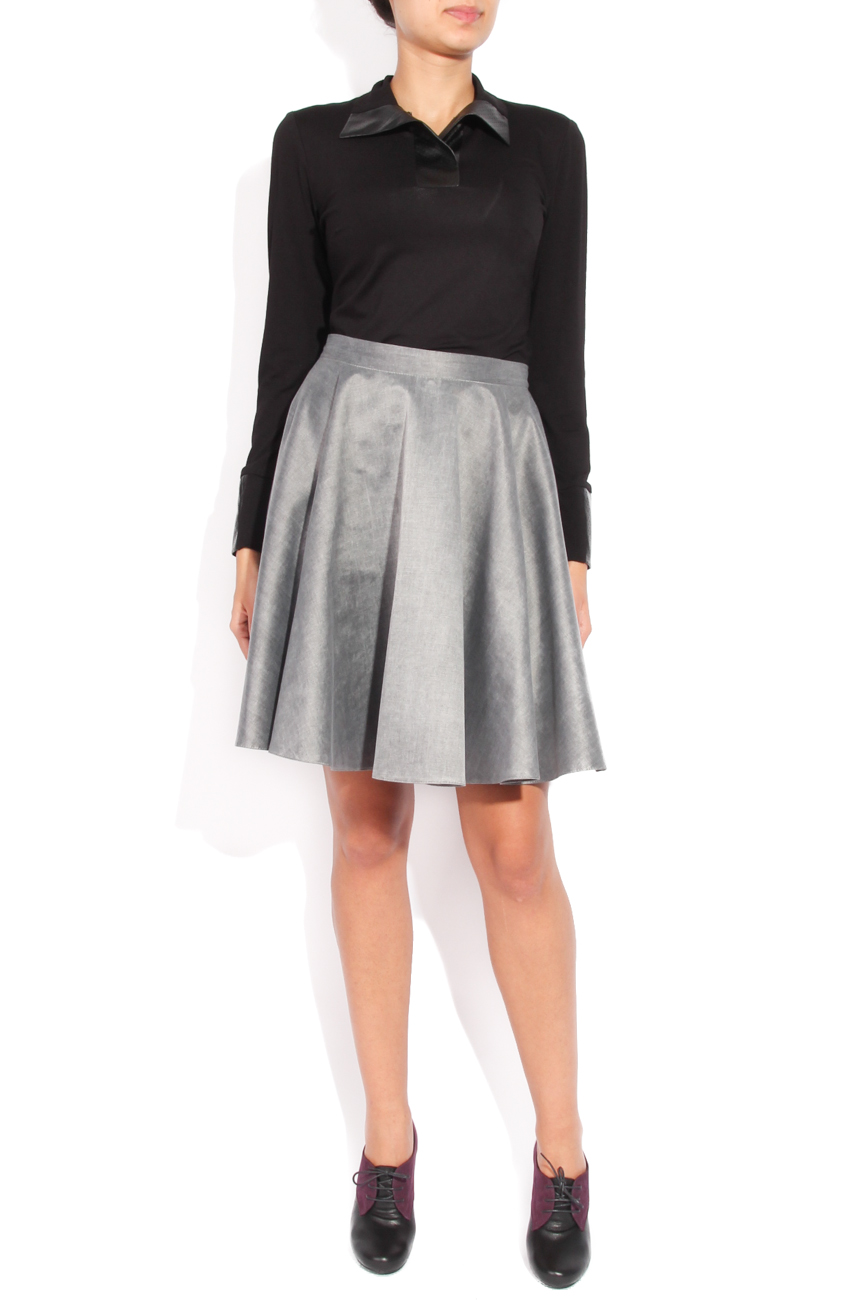 Grey flared skirt Laura Ciobanu image 0