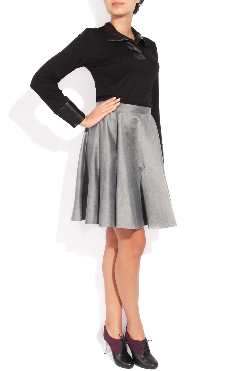 Grey flared skirt Laura Ciobanu image 1