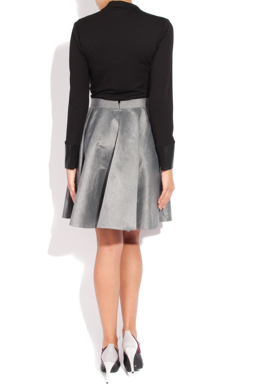 Grey flared skirt Laura Ciobanu image 2