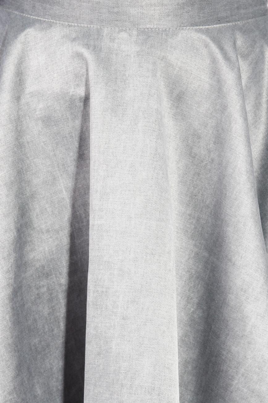 Grey flared skirt Laura Ciobanu image 3