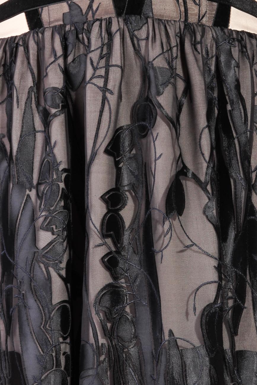Black silk dress with harness Laura Ciobanu image 3