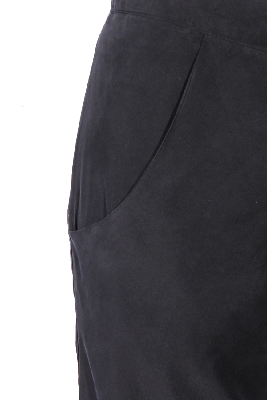 Pantaloni matase gri B.A.D. Style by Adriana Barar imagine 3