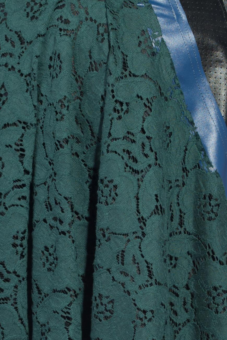 Green lace mini skirt Lena Criveanu image 3
