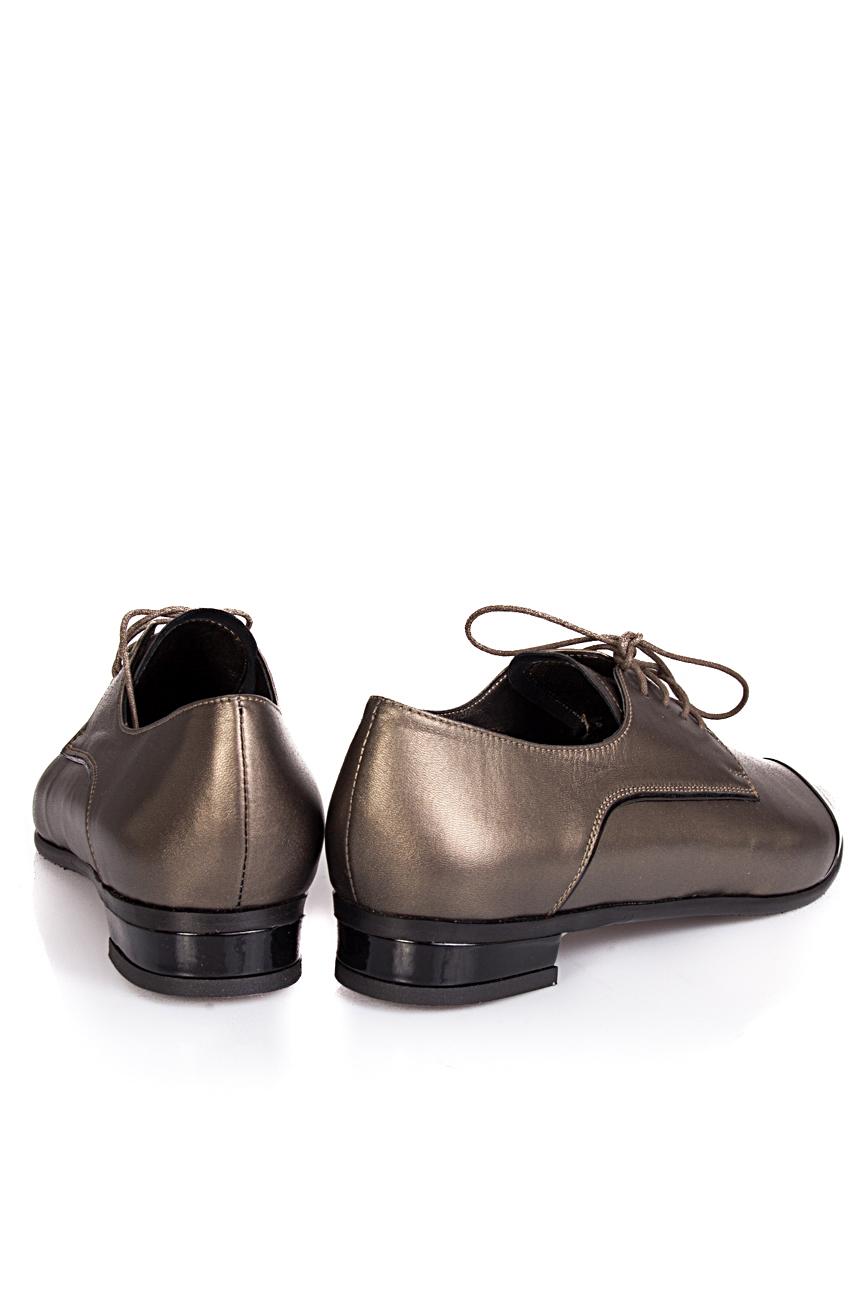 Pantofi cu bot lacuit Ana Kaloni imagine 2