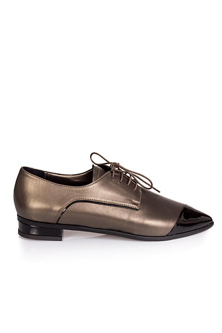 Pantofi cu bot lacuit Ana Kaloni imagine 1