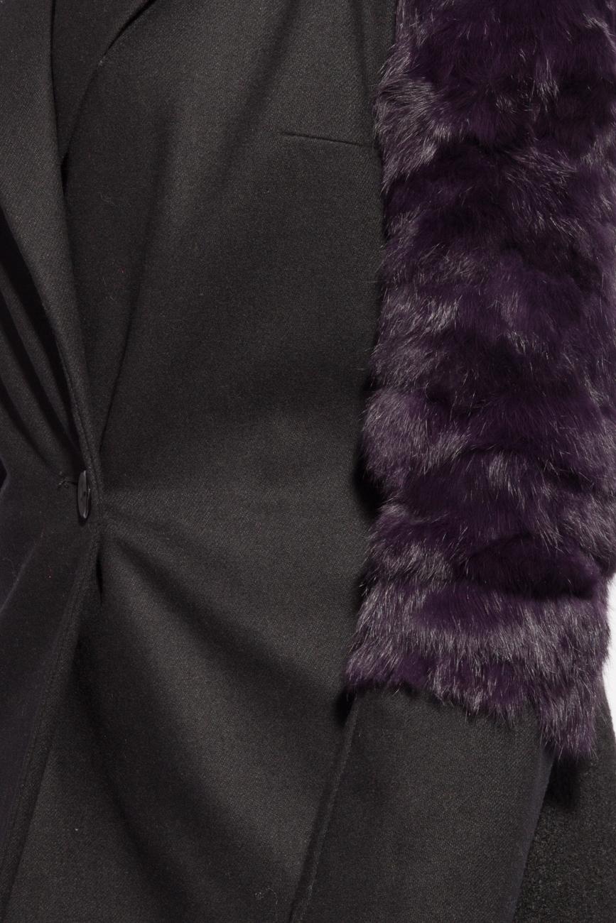 Rabbit fur jacket Mirela Diaconu  image 3