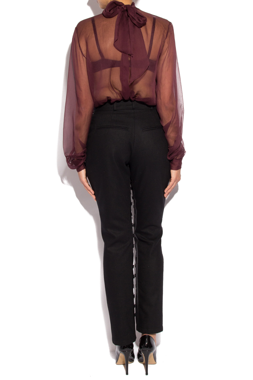 Pants with leather insertions Mirela Diaconu  image 2