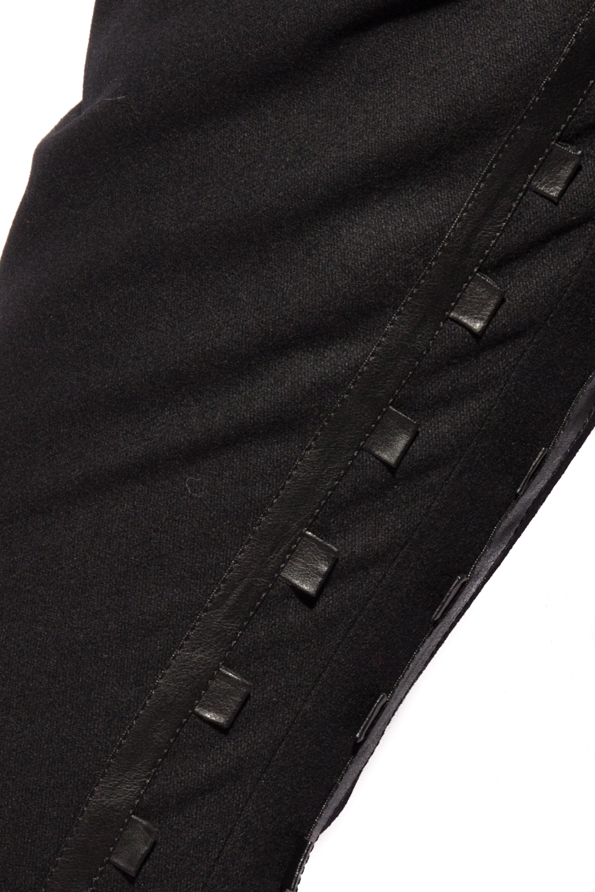 Pants with leather insertions Mirela Diaconu  image 3