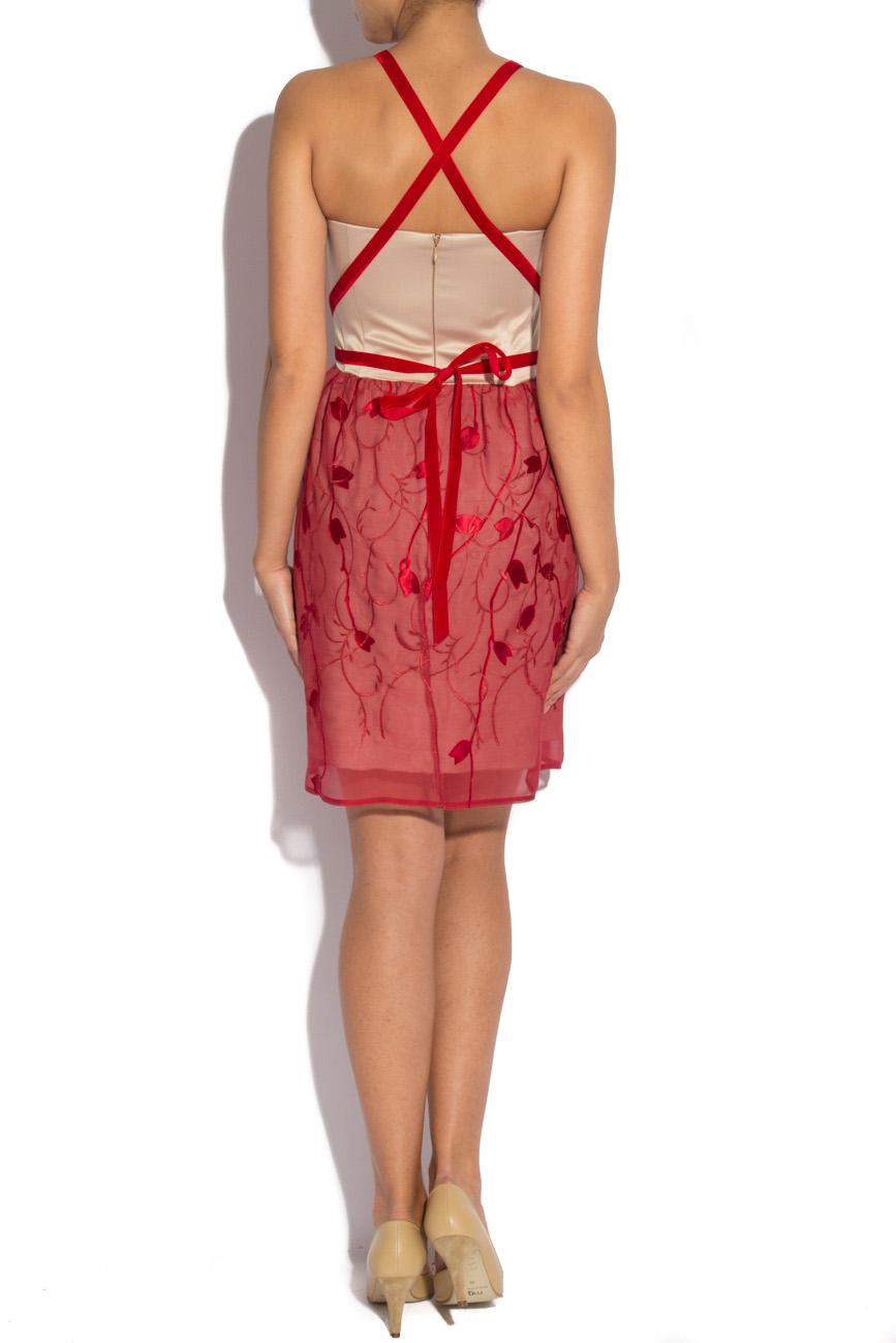 Burgundy dress with harness Laura Ciobanu image 2