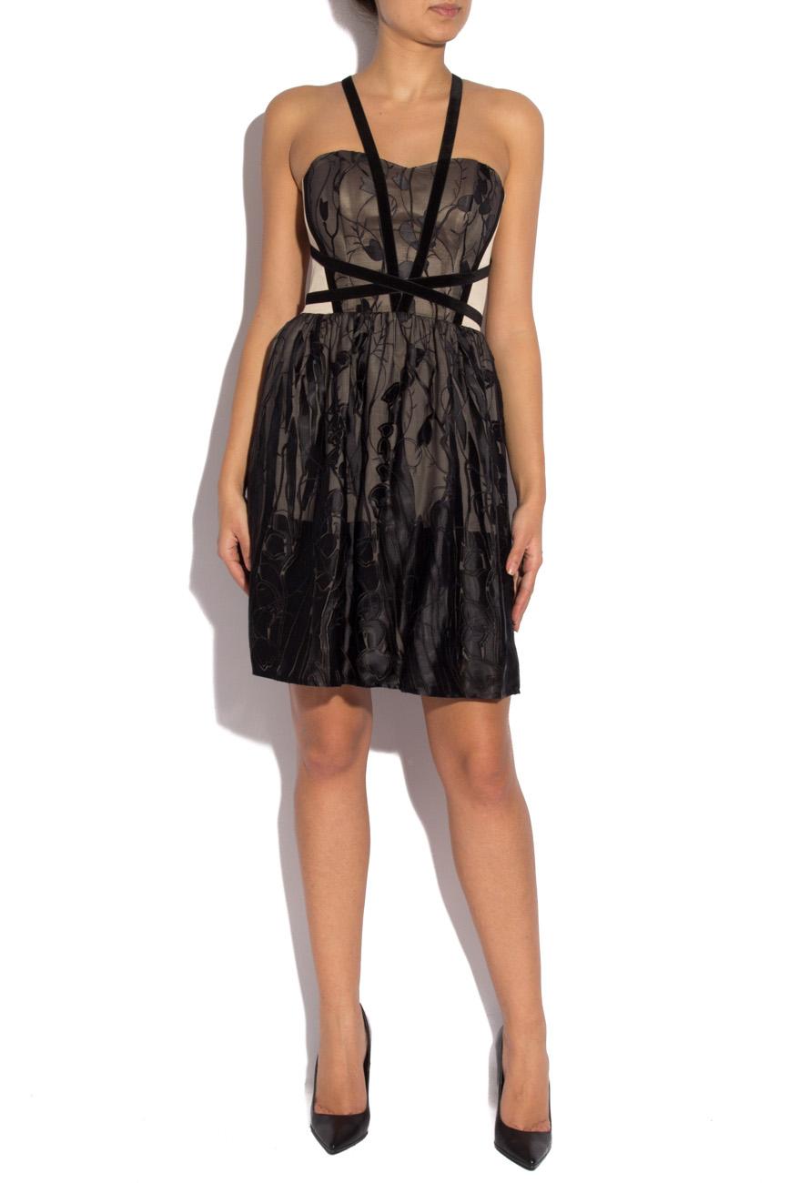Black silk dress with harness Laura Ciobanu image 0