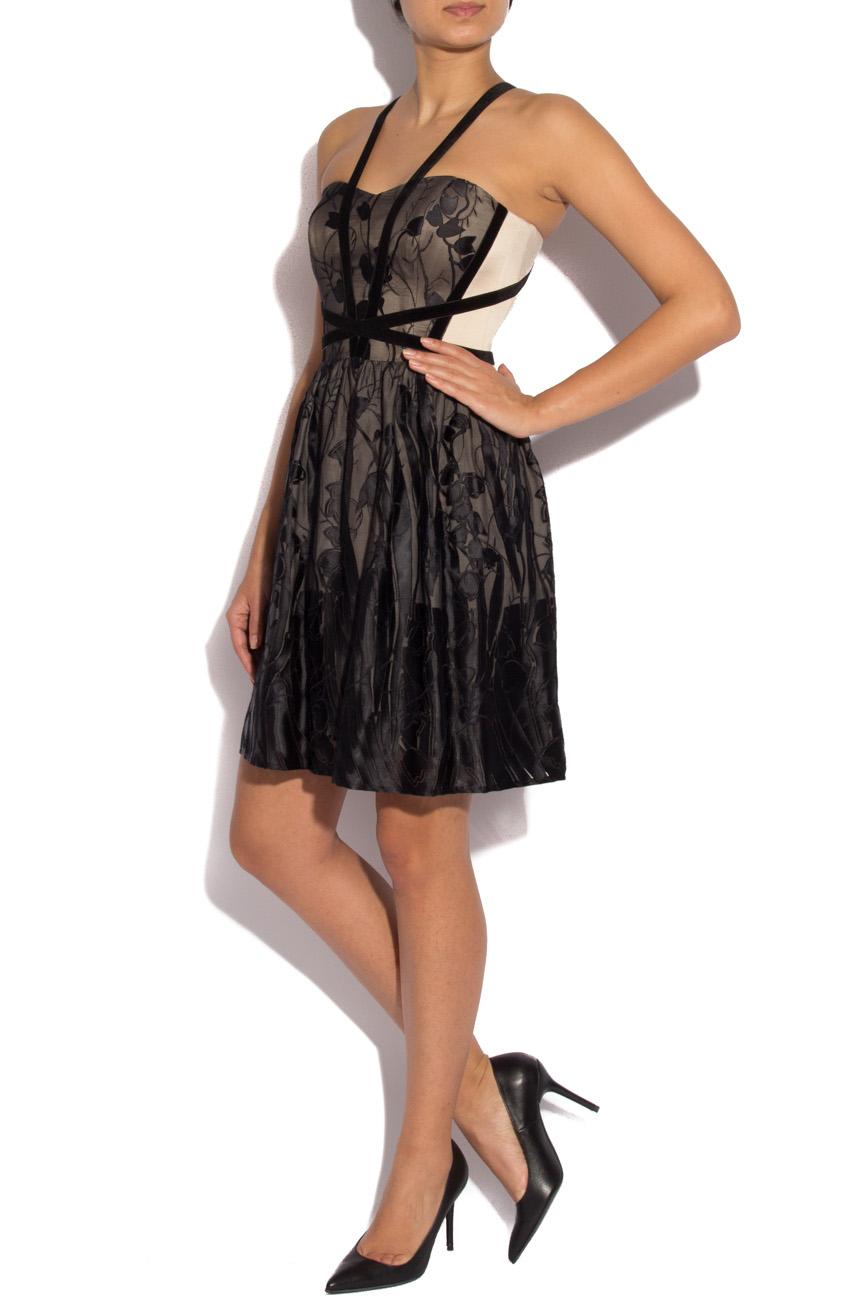 Black silk dress with harness Laura Ciobanu image 1