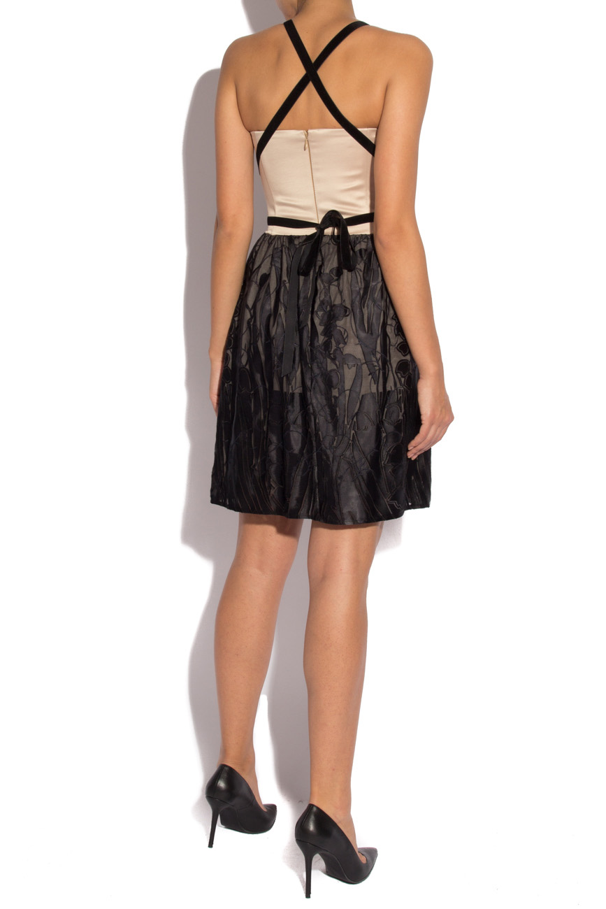 Black silk dress with harness Laura Ciobanu image 2
