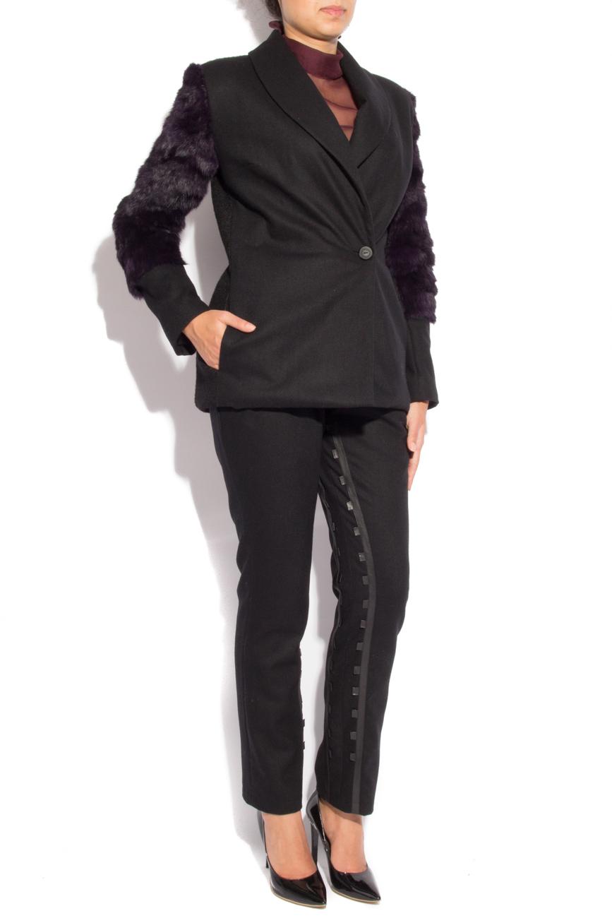 Rabbit fur jacket Mirela Diaconu  image 1
