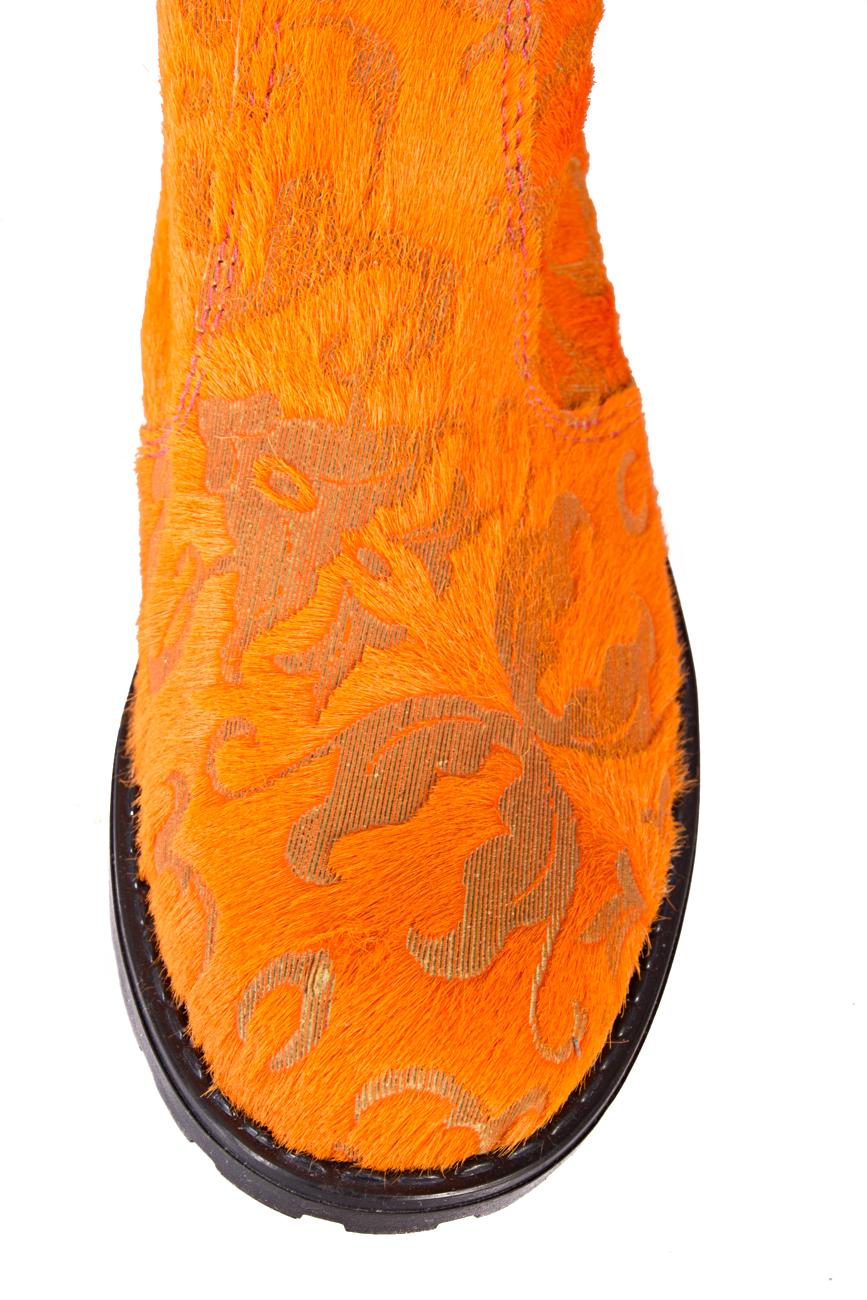 Ghete orange Giuka by Nicolaescu Georgiana  imagine 3