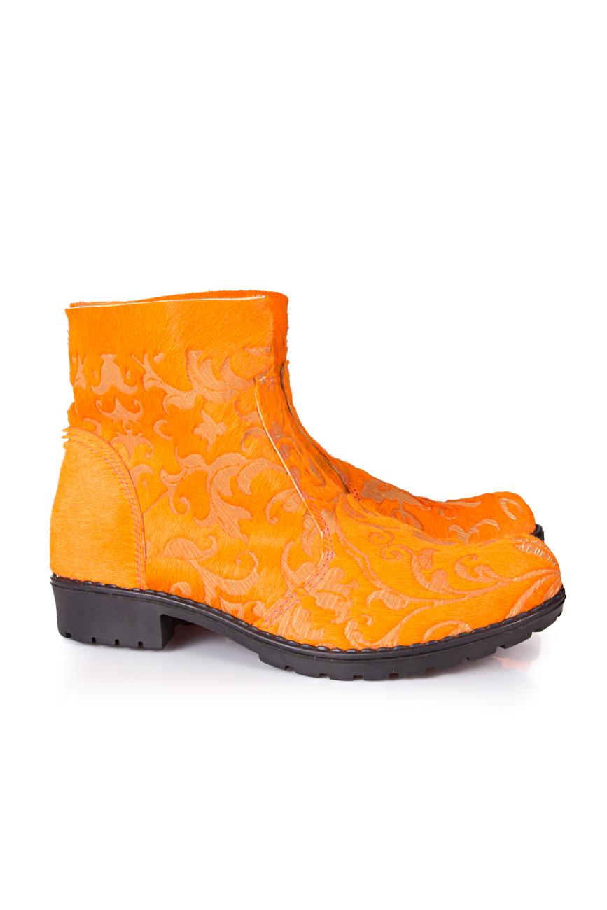 Orange boots Giuka by Nicolaescu Georgiana  image 0