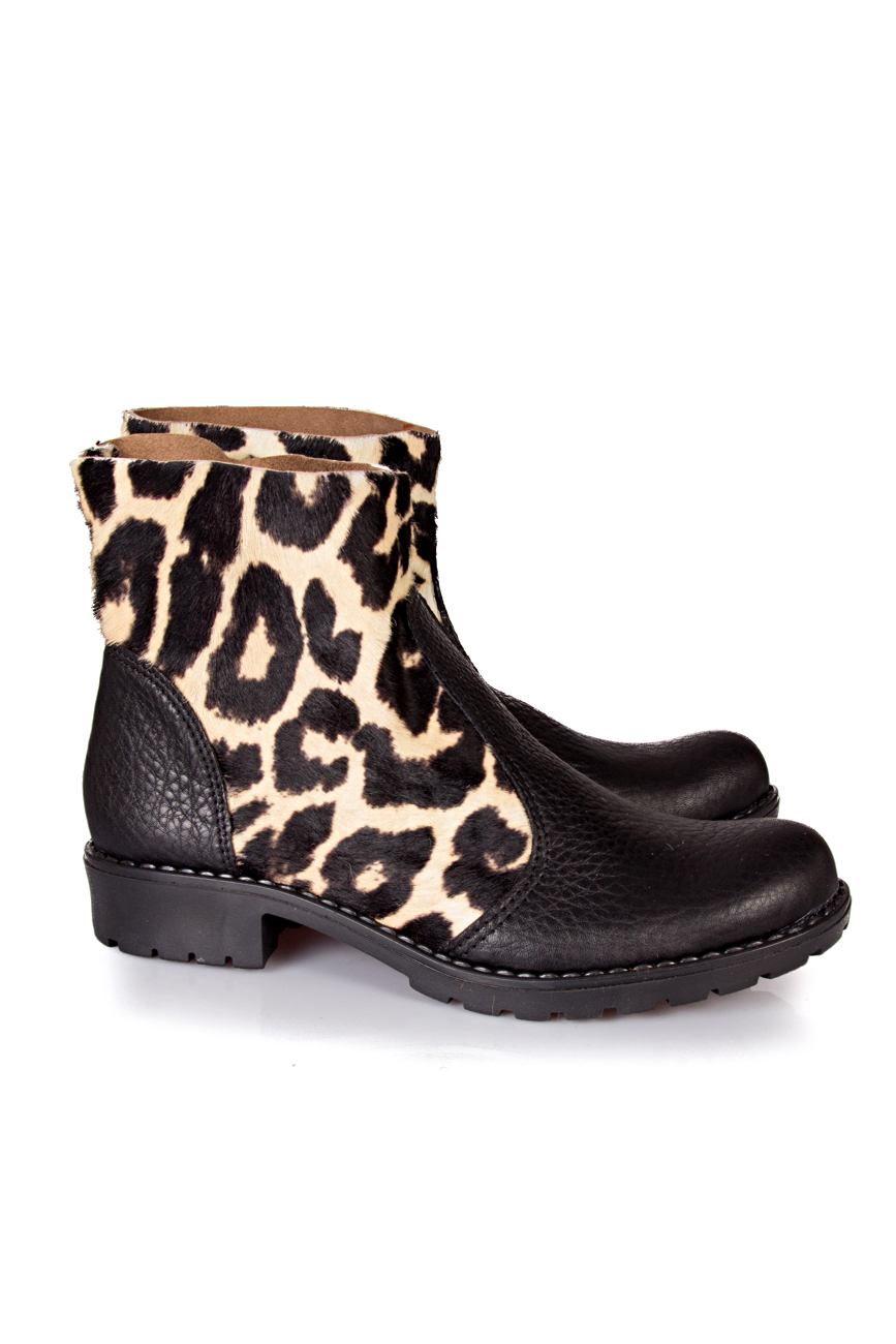 Black leopard boots Giuka by Nicolaescu Georgiana  image 0