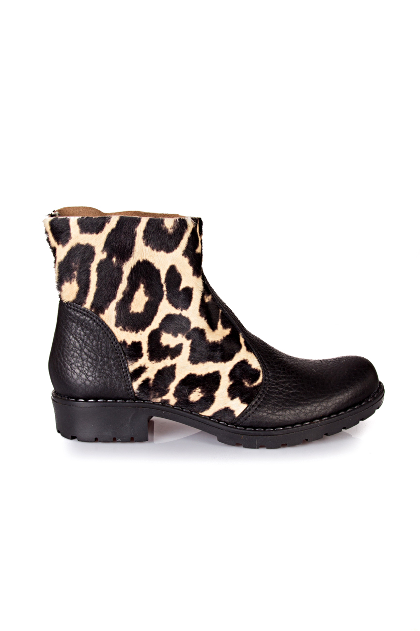 Black leopard boots Giuka by Nicolaescu Georgiana  image 1