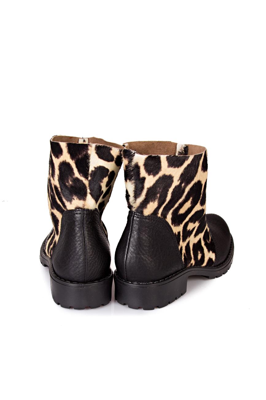 Black leopard boots Giuka by Nicolaescu Georgiana  image 2