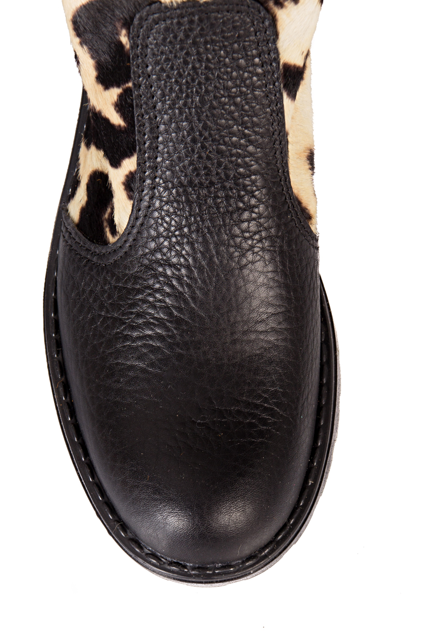 Black leopard boots Giuka by Nicolaescu Georgiana  image 3