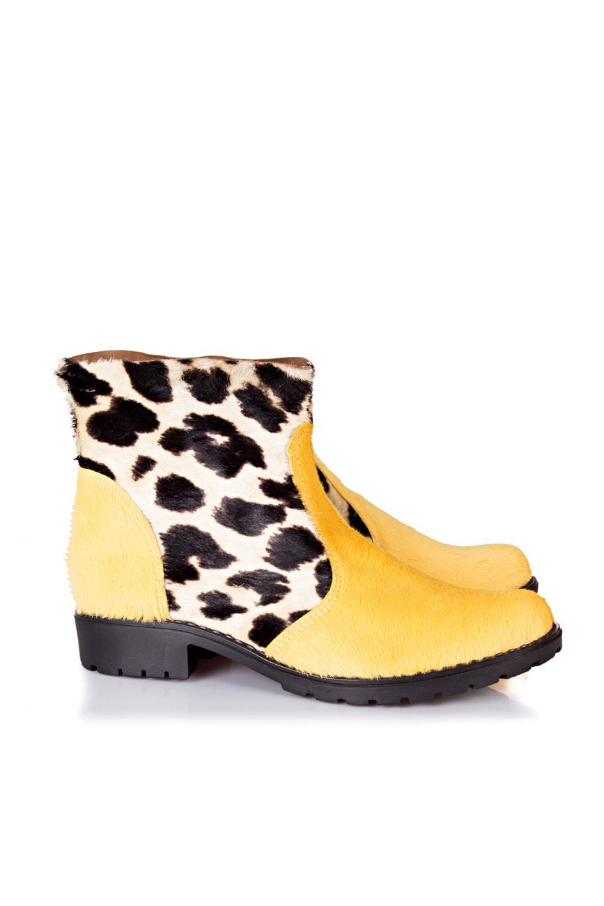 Yellow leopard boots Giuka by Nicolaescu Georgiana  image 0