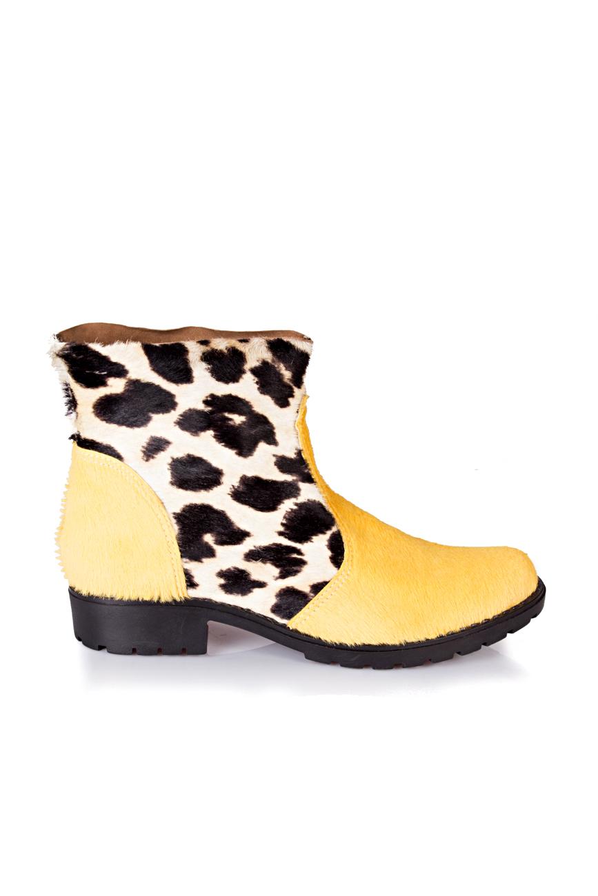 Yellow leopard boots Giuka by Nicolaescu Georgiana  image 1