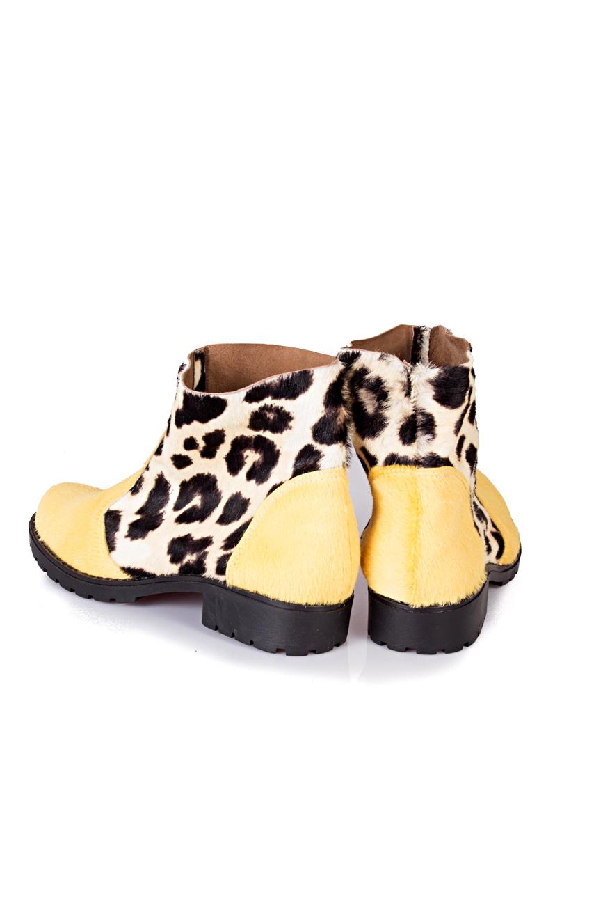 Yellow leopard boots Giuka by Nicolaescu Georgiana  image 2