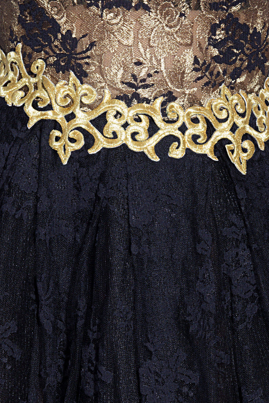 Black and gold dress Anca si Silvia Negulescu image 3