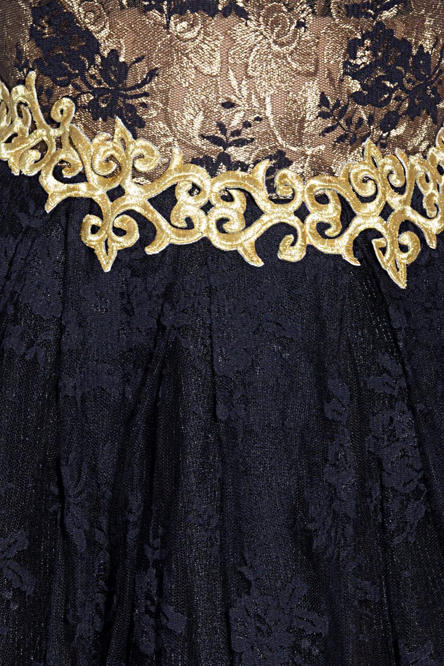 Rochie negru cu auriu Anca si Silvia Negulescu imagine 3