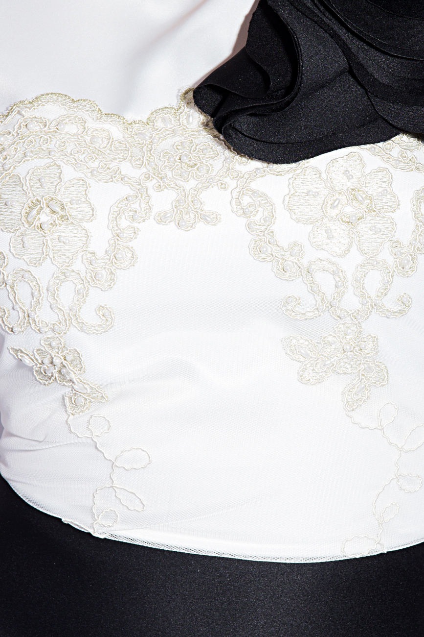 Dress with volumetry on the shoulder Anca si Silvia Negulescu image 3