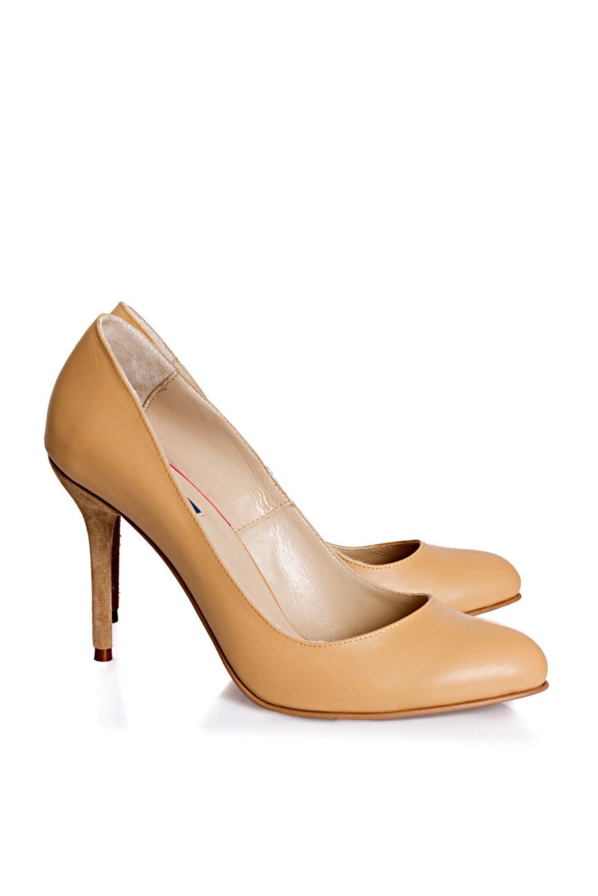 Pantofi bej Mihaela Glavan  imagine 0