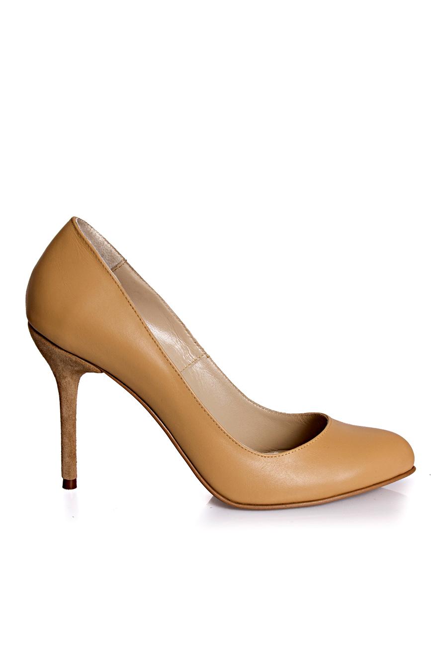 Pantofi bej Mihaela Glavan  imagine 1