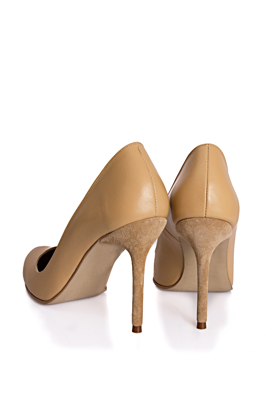 Pantofi bej Mihaela Glavan  imagine 2