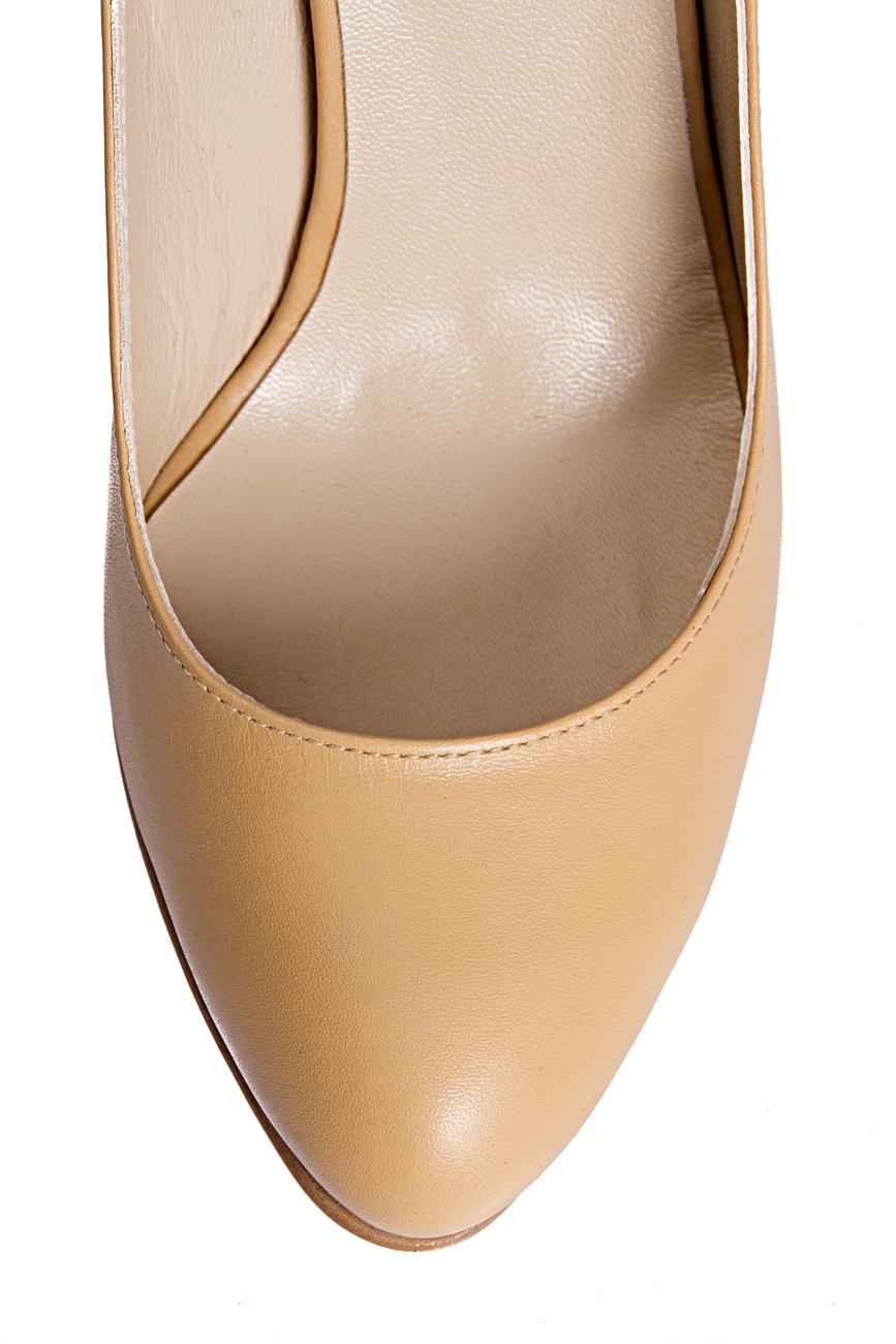Pantofi bej Mihaela Glavan  imagine 3