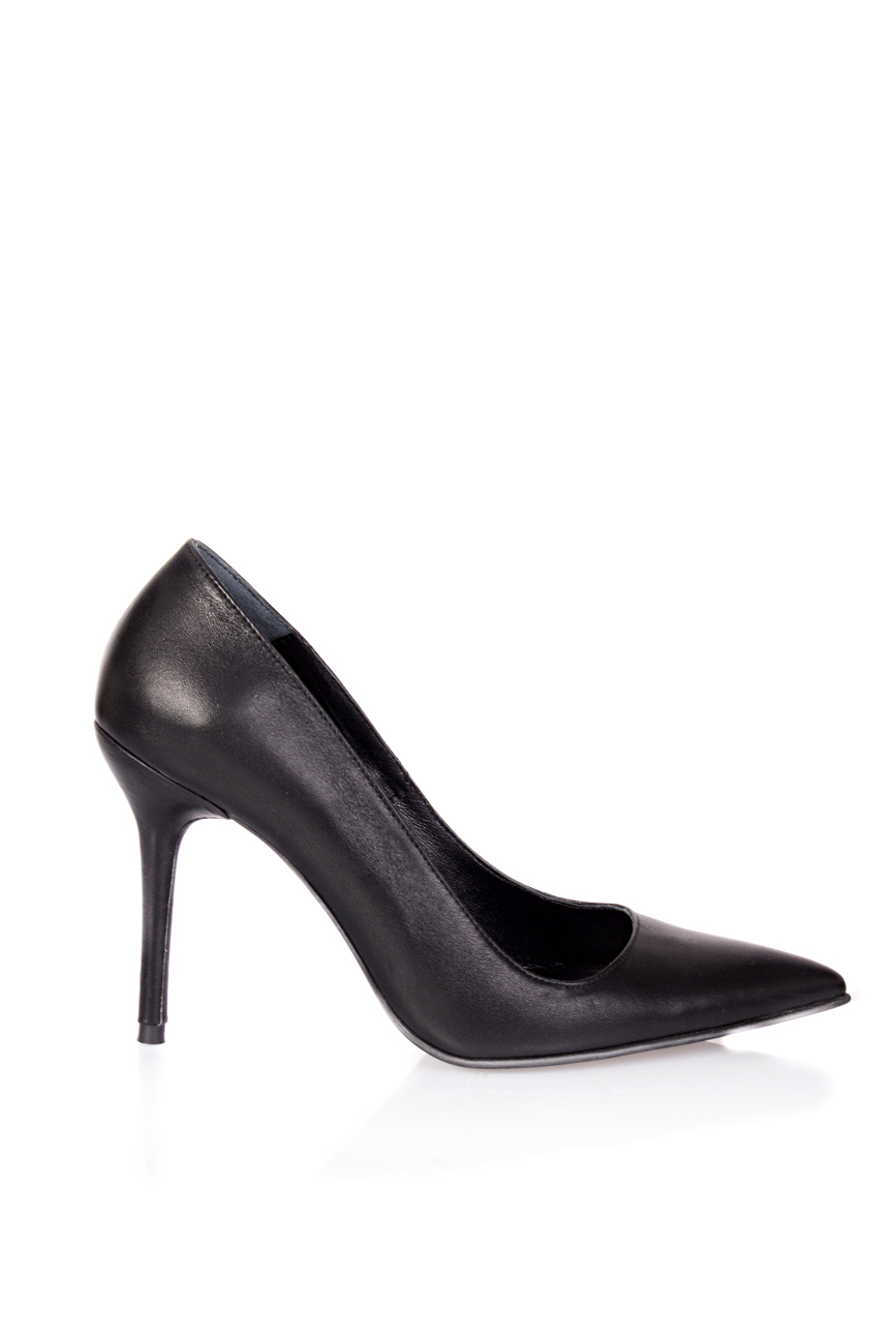 Black leather stiletto shoes Mihaela Glavan  image 1