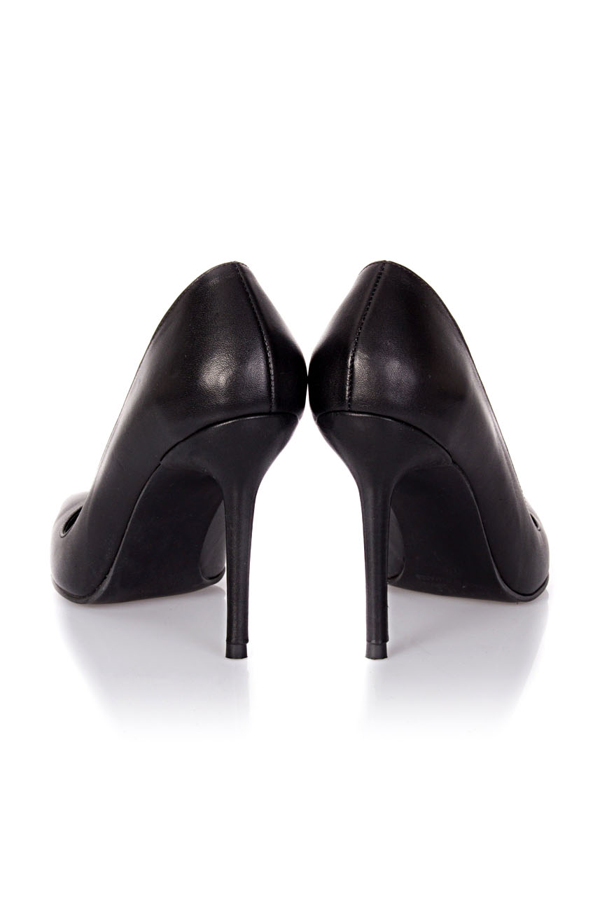 Black leather stiletto shoes Mihaela Glavan  image 2
