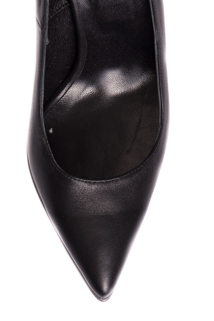 Black leather stiletto shoes Mihaela Glavan  image 3