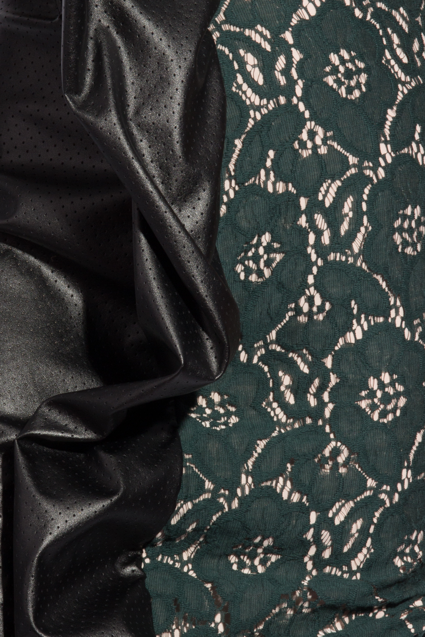Robe dentelle et cuir Lena Criveanu image 3