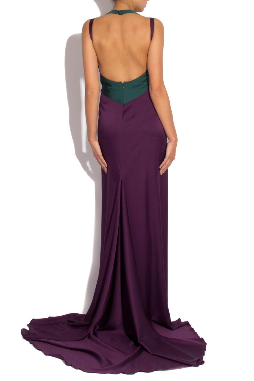 Robe à traîne en satin violet Lena Criveanu image 2