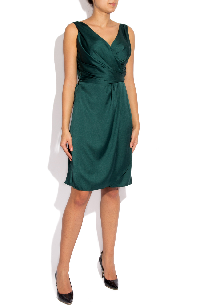 Green dress with folds Lena Criveanu image 1