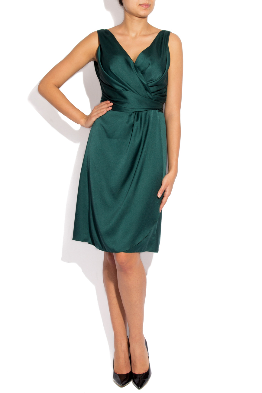 Green dress with folds Lena Criveanu image 0