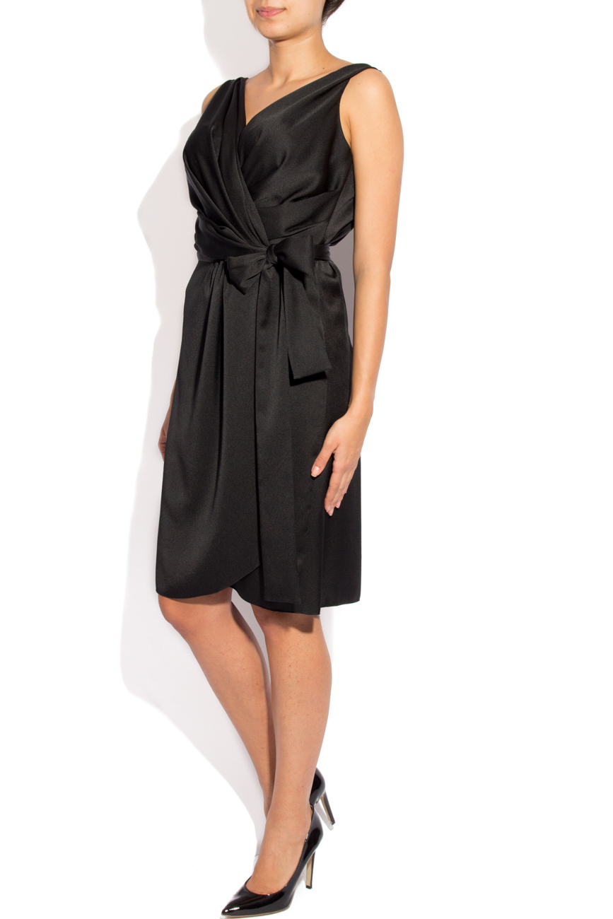 Black dress with folds Lena Criveanu image 1