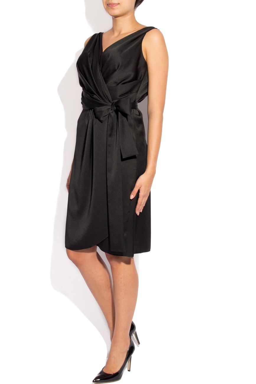 Black dress with folds Lena Criveanu image 1