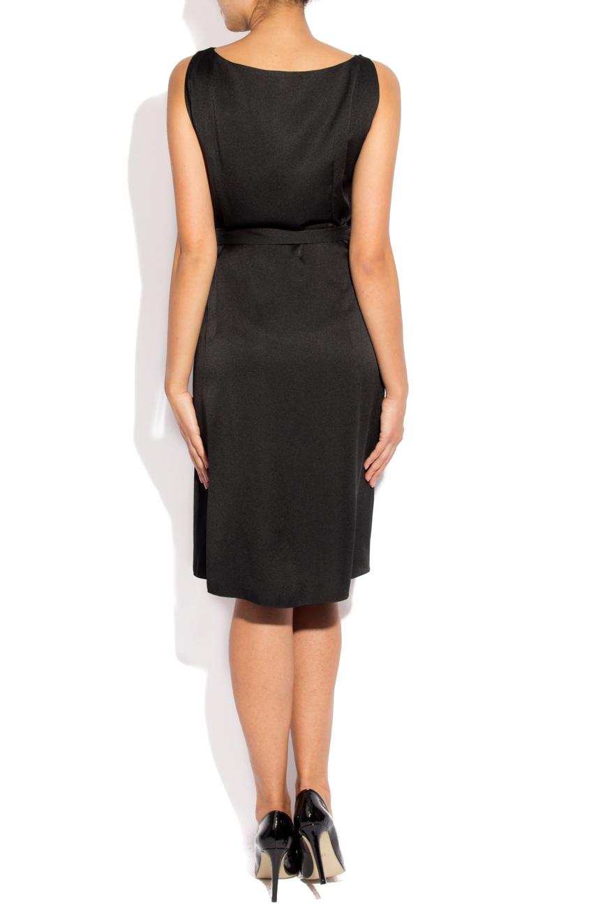 Black dress with folds Lena Criveanu image 2
