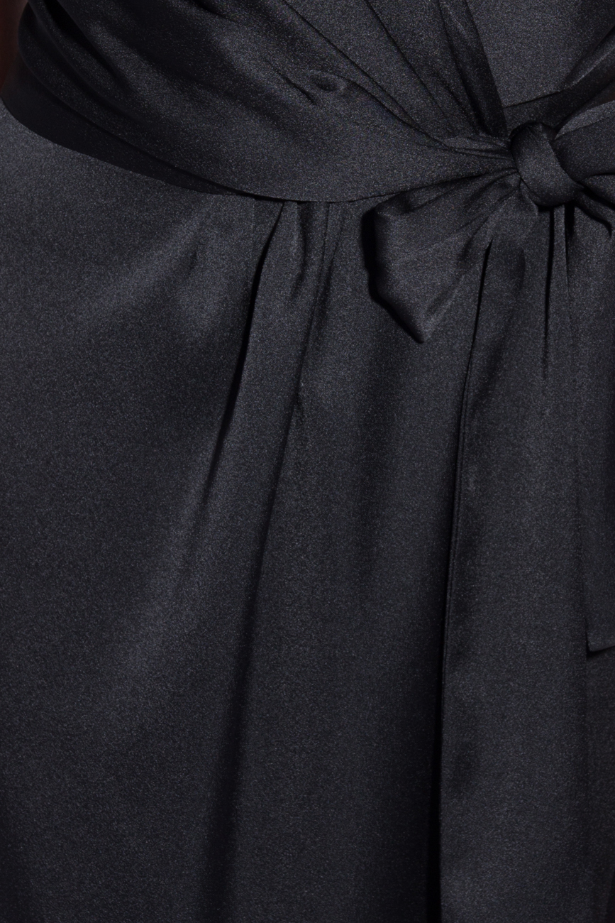 Black dress with folds Lena Criveanu image 3