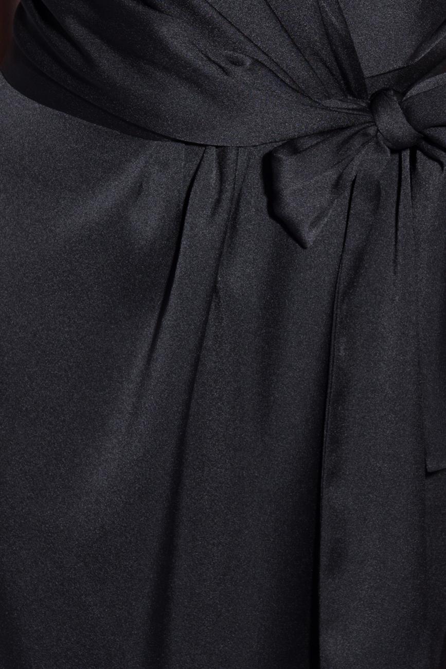 Black dress with folds Lena Criveanu image 3