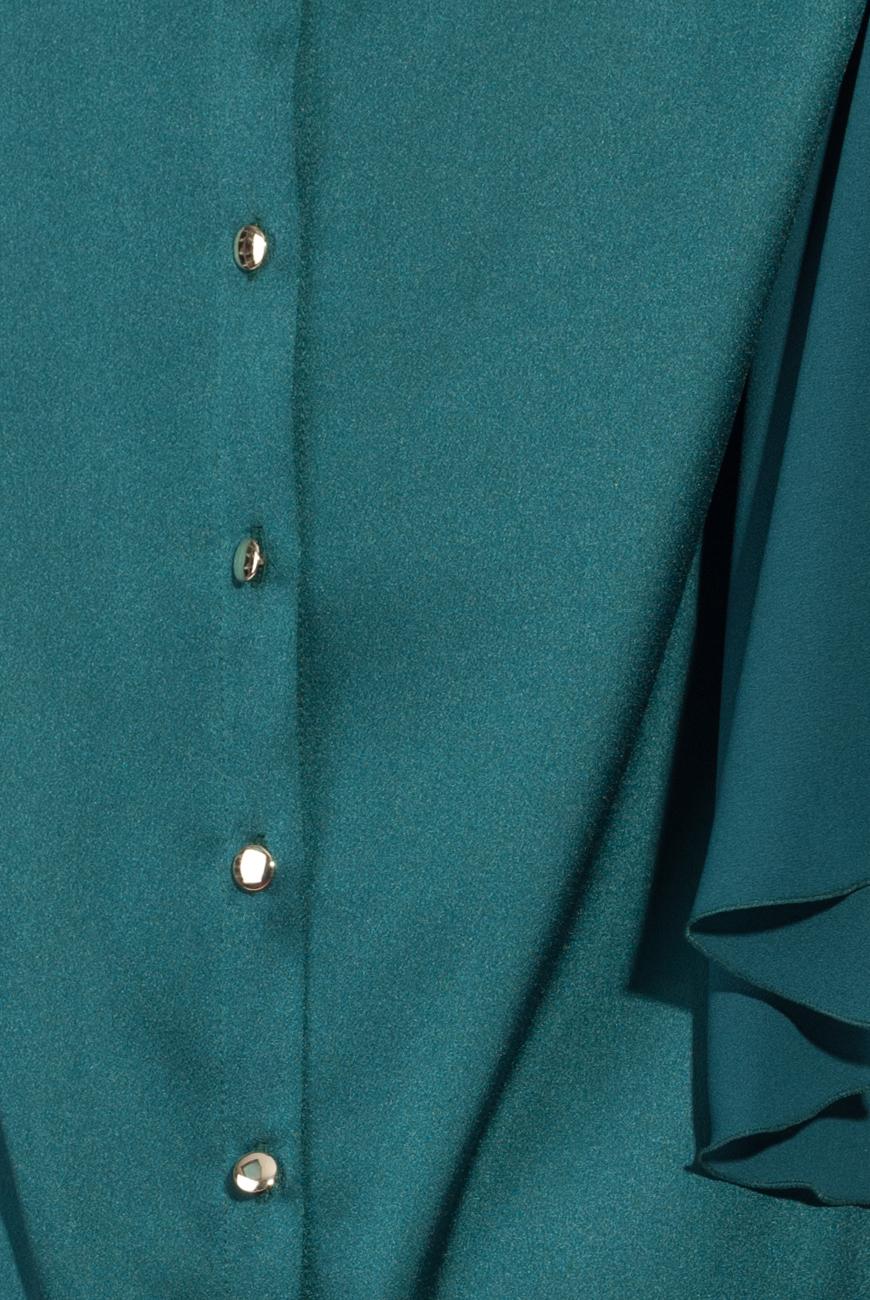 Green satin dress Lena Criveanu image 3