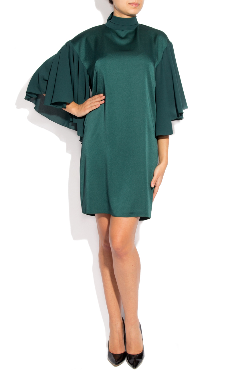 Green satin dress Lena Criveanu image 0