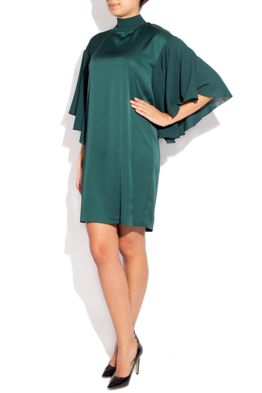 Green satin dress Lena Criveanu image 1