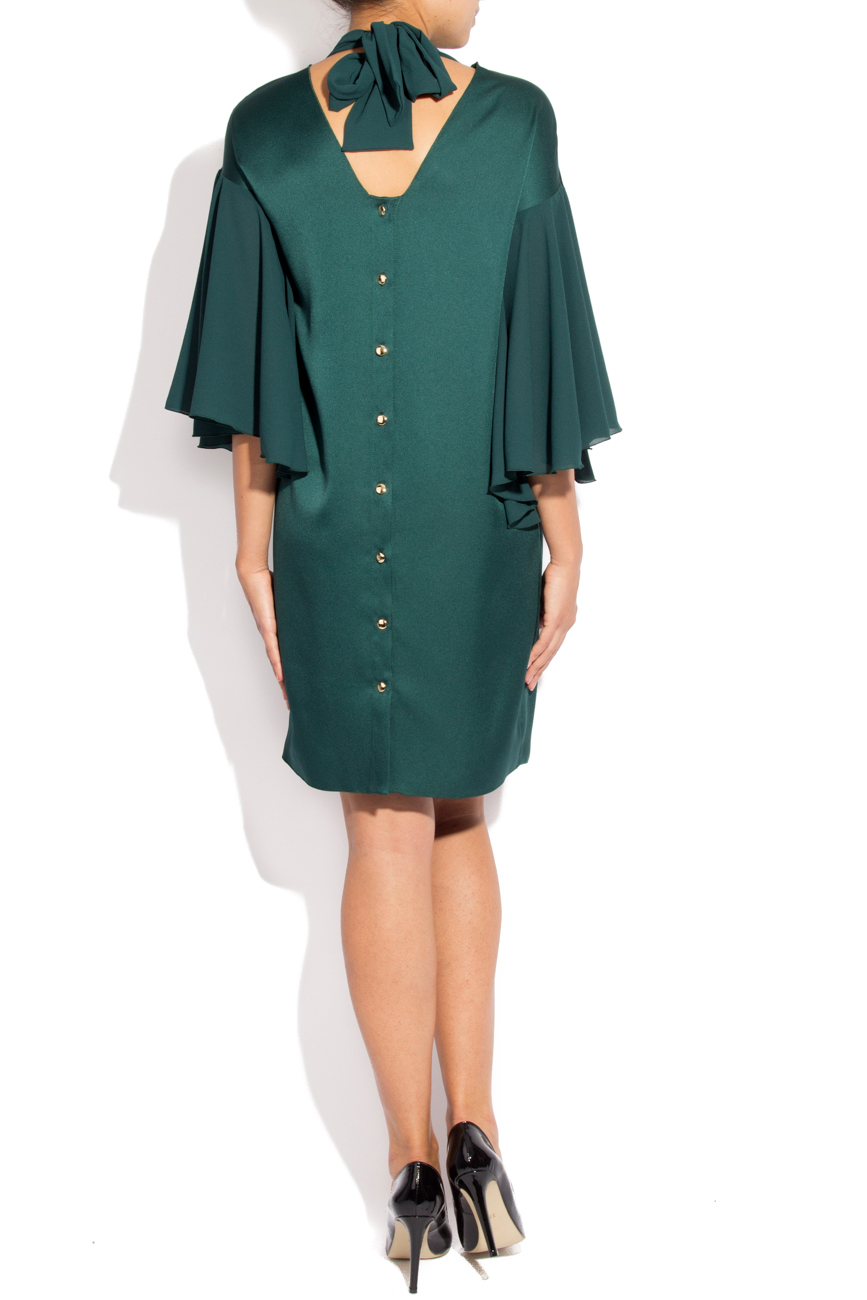 Green satin dress Lena Criveanu image 2