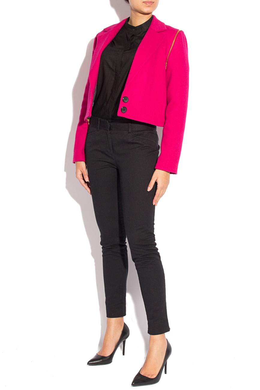 Fuchsia jacket with detachable sleeves Mirela Diaconu  image 2